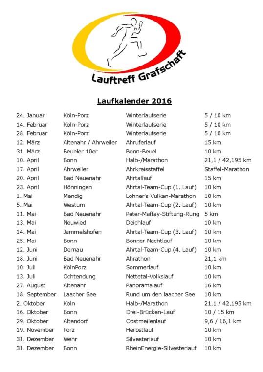 Laufkalender LT Grafschaft