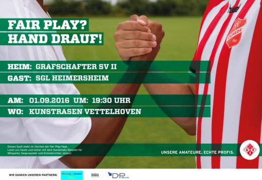 Zweite: Donnerstag gegen Heimersheim!